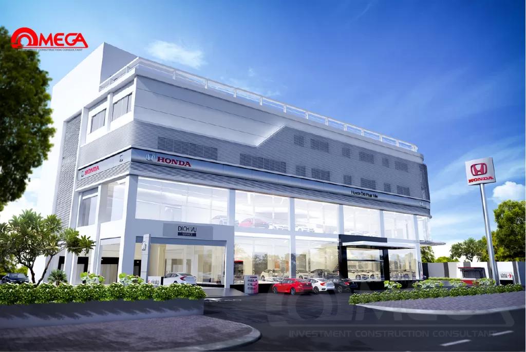 Ý tưởng thiết kế showroom ô tô hiện đại 2021