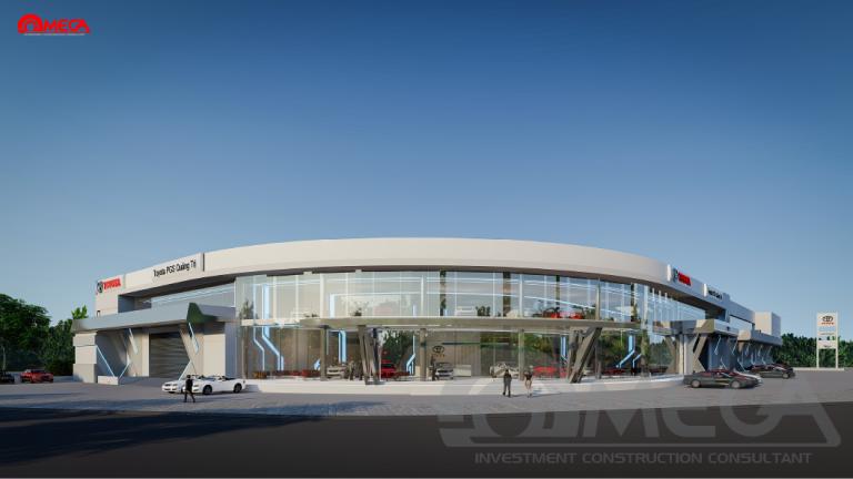 Kinh nghiệm đầu tư xây dựng và thiết kế showroom ô tô