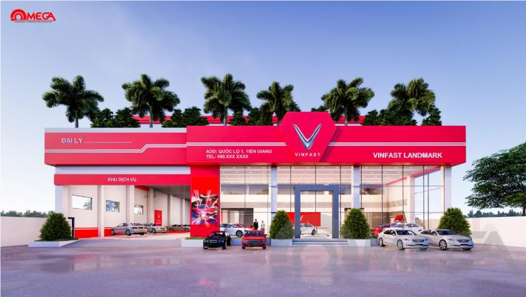 Phong cách thiết kế showroom ô tô hiện đại